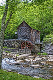 Gläntaliten vikmäld maler i den Babcock delstatsparken West Virginia USA royaltyfri fotografi