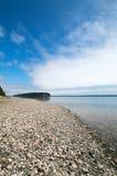 Glänzen Sie Tidelands-Nationalparkküstenlinie von Bywater-Bucht nahe Hafen Ludlow in Puget Sound in Washington State Lizenzfreie Stockfotos