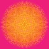 Glänzende abgetönte Mandala auf hellem Hintergrund Lizenzfreie Stockfotos
