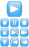 Glänzende Audiotasten Stockfoto