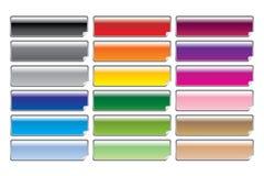 Glänzende Aufkleber lizenzfreie abbildung