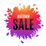 Glänzende Autumn Leaves Sale Background Vector-Illustration Stockfotos