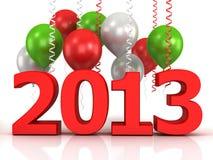 glänzende Ballons 3d und Daten 2013 Stockfoto