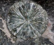 Glänzende Beschaffenheit von Clinochlore-Mineral Stockfotos