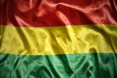 glänzende bolivianische Flagge Lizenzfreie Stockfotografie