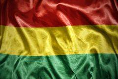 glänzende bolivianische Flagge Lizenzfreie Stockfotos
