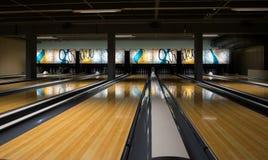 Glänzende Bowlingbahn Lizenzfreie Stockfotografie