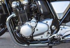 Glänzende Chrome-Maschine Starker MotorradMotorblock lizenzfreie stockfotos