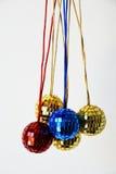 Glänzende Disco-Bälle für Weihnachten Stockfotos