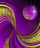 Glänzende Discokugel. Stockbild