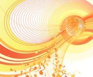 Glänzende Discokugel. Stockfoto