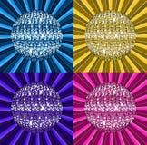 Glänzende Discokugel Stockfoto