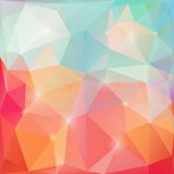 Glänzende Dreiecke poligonal Vektorillustration Stockbild