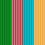 Glänzende Fahnen des mehrfarbigen Streifens 3D - Stockfoto
