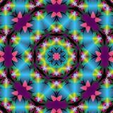 Glänzende Farbbandstern-Mandala Stockbild