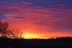 Glänzende Farben eines Sonnenuntergangs stockbild
