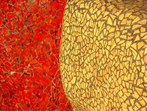 Glänzende farbige Mosaikfliesen stockbild