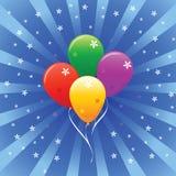 Glänzende Feiertags-vektorballone Lizenzfreie Stockfotografie