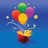 Glänzende Feiertags-vektorballone Lizenzfreies Stockbild