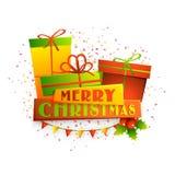 Glänzende Geschenke für frohe Weihnachten vektor abbildung