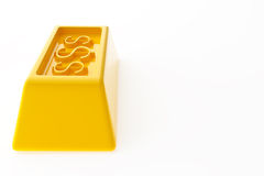 Glänzende Goldbarren Stockfotografie