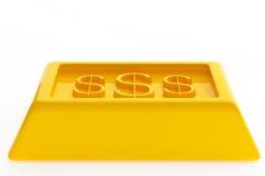 Glänzende Goldbarren Lizenzfreies Stockfoto