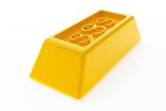 Glänzende Goldbarren Stockbild