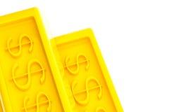 Glänzende Goldbarren Stockbilder