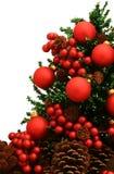 Glänzende grüne Weihnachtsbaum-Serie - Tree6 Stockfoto