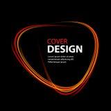Glänzende Kreisfahne Glühende Feuerringspur Funkelnscheinstrudelhintereffekt auf schwarzen Hintergrund lizenzfreie abbildung