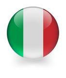 Glänzende Kugel mit italienischer Markierungsfahne Lizenzfreie Stockfotos