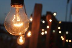 Glänzende Lampen stockfotografie