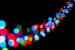 Glänzende Leuchten Stockfoto