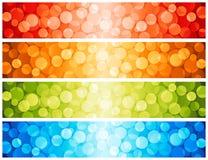 Glänzende Lichtpunkte. Stockfoto