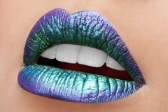 Glänzende Lippen stockfoto