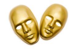 Glänzende Masken getrennt Lizenzfreies Stockbild