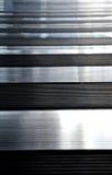 Glänzende Metallbeschaffenheitswand lizenzfreie stockbilder