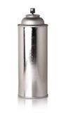 Glänzende metallische Flasche mit Sprüher Stockfotos