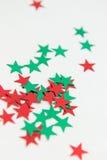 Glänzende metallische Stern-Verschönerungen Stockfotografie