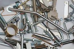 Glänzende Metallobjekte lizenzfreie stockbilder