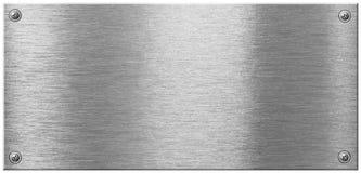 Glänzende Metallplatte mit Schraubennagelköpfen Lizenzfreie Stockfotografie