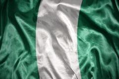 glänzende nigerische Flagge Lizenzfreie Stockbilder