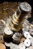 Glänzende norwegische Münzen Lizenzfreie Stockfotos