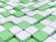 glänzende Oberflächen des Mosaiks 3d. stockfotos
