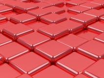 Glänzende Oberflächen des Mosaiks 3d, des Silbers und des Goldes. Lizenzfreies Stockfoto