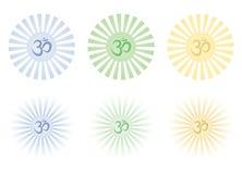 Glänzende OM-Zeichen Stockbild