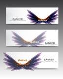 Glänzende purpurrote Fahnen Lizenzfreie Stockbilder