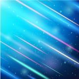 Glänzende Scheinwerferlichter Auch im corel abgehobenen Betrag Stockbild