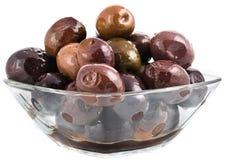 Glänzende schwarze Oliven Lizenzfreies Stockbild