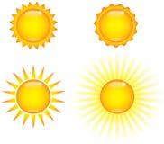 Glänzende Sonnen Lizenzfreie Stockfotos